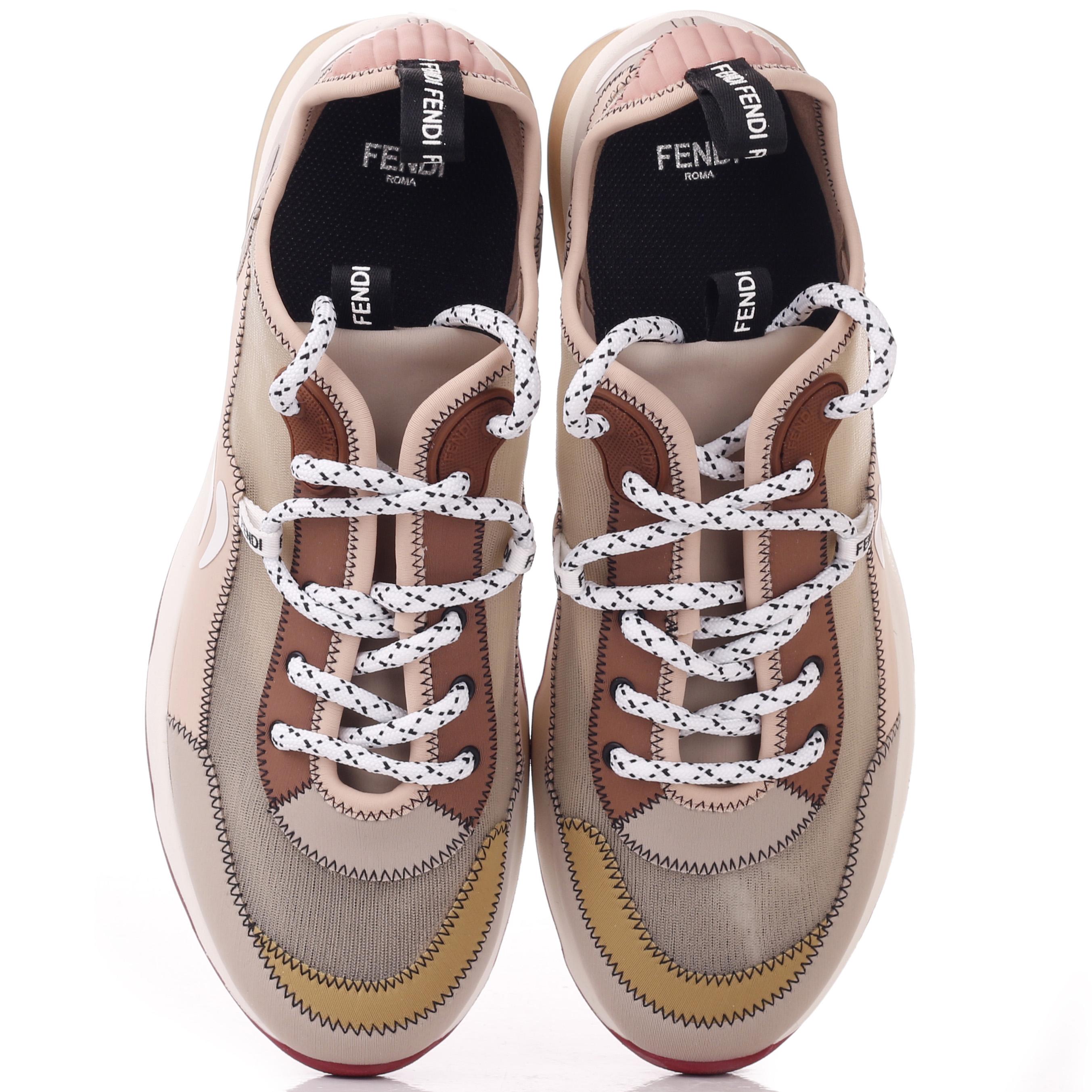 Спортивные кроссовки Fendi Mosaico из сетчатой ткани