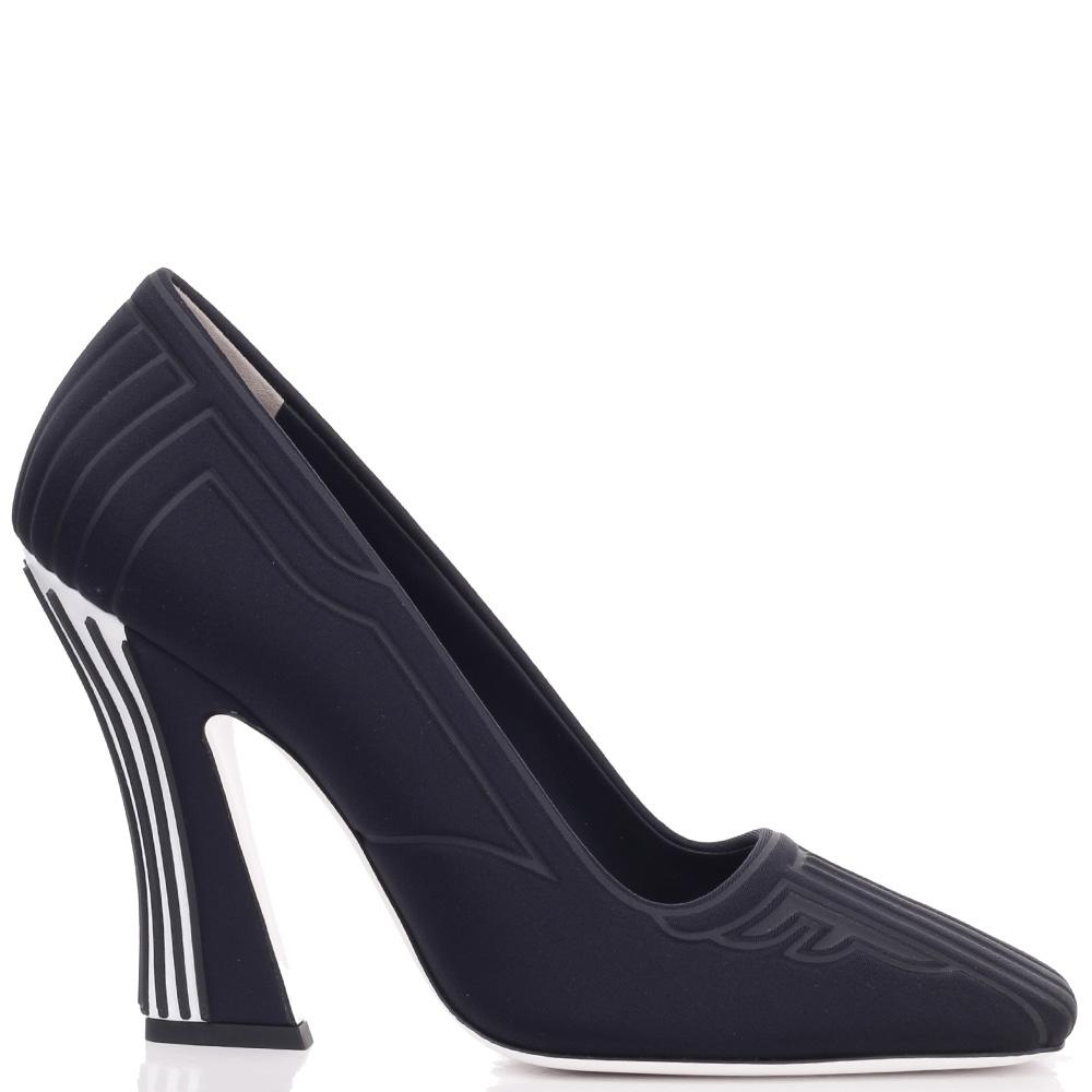 Черные туфли Fendi на высоком каблуке