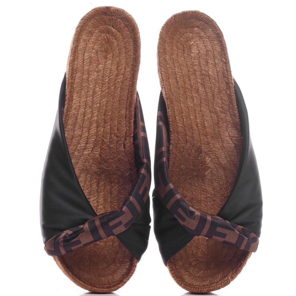 Шлепанцы Fendi на плетеной подошве