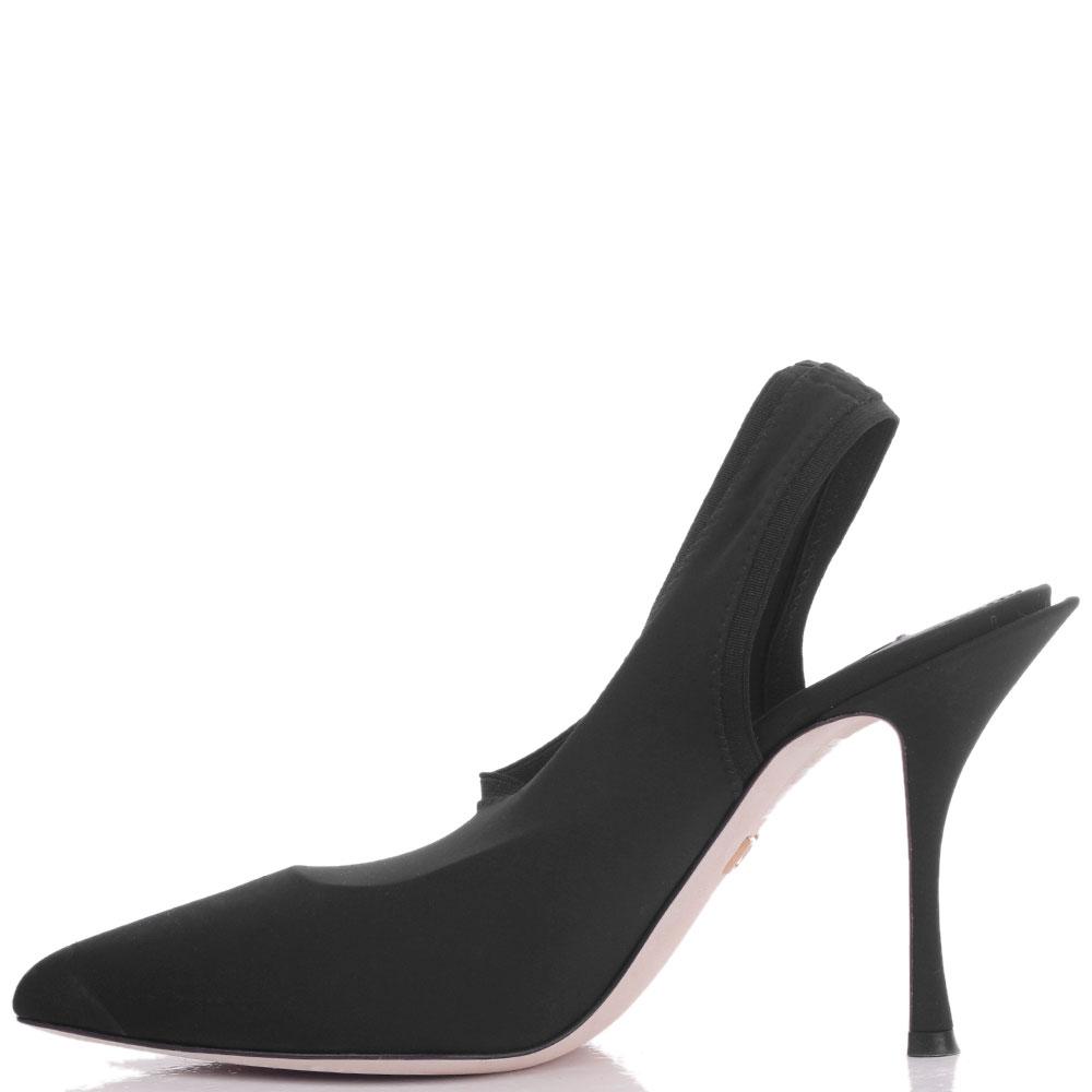 Туфли-слингбеки Dolce&Gabbana с острым носком