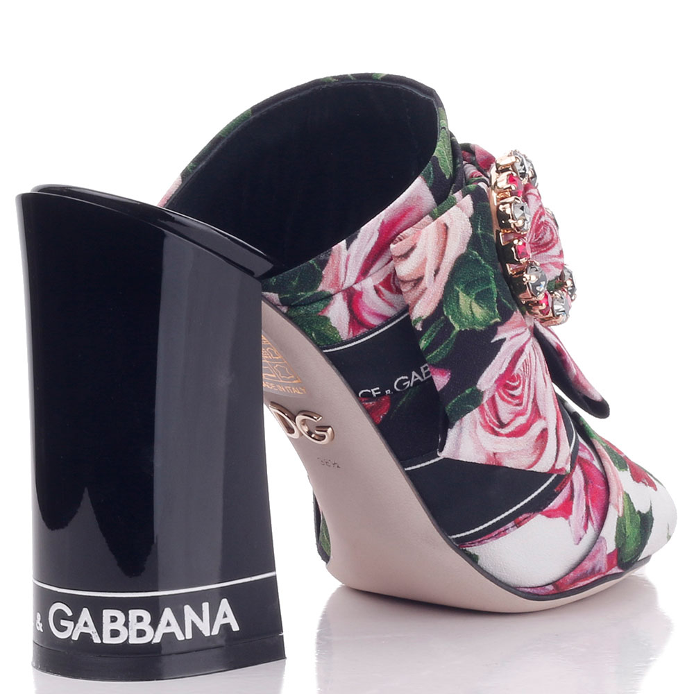 Мюли Dolce&Gabbana на высоком каблуке с декором-бантом