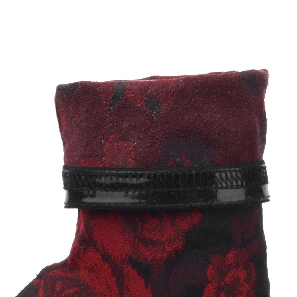 Жаккардовые ботильоны Dolce&Gabbana на высокой шпильке