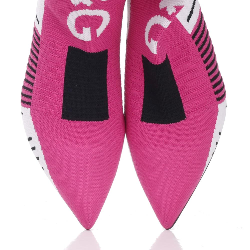 Текстильные ботильоны Dolce&Gabbana на среднем каблуке