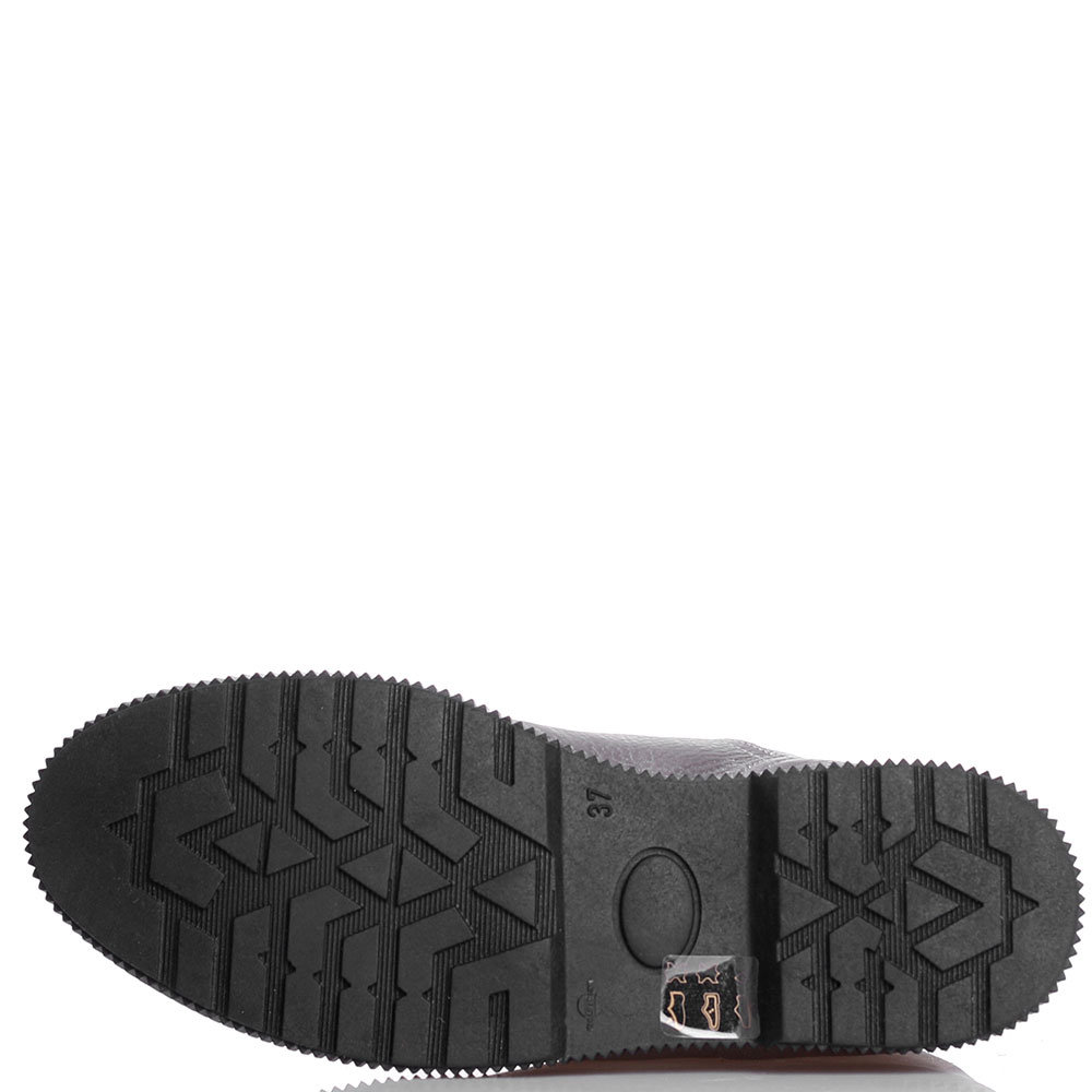 Серебристые ботинки Tine's из комбинации кожи и замши