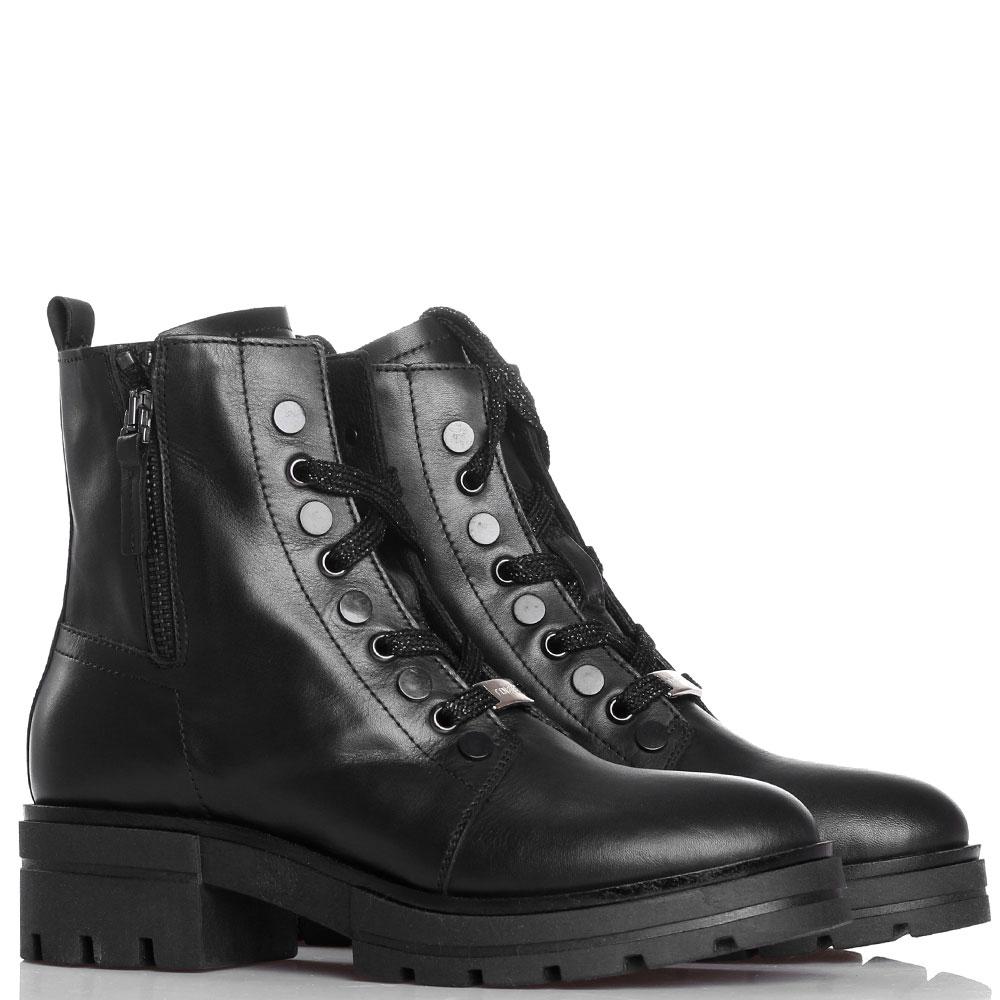 Ботинки Tine's из гладкой кожи черного цвета