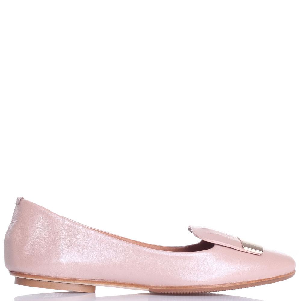 Кожаные балетки Fabio Di Luna пудрового цвета