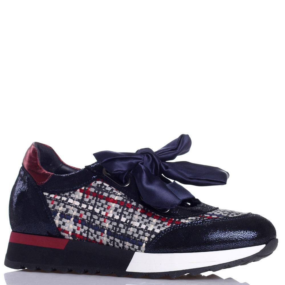 Синие кроссовки Jeannot с атласной шнуровкой