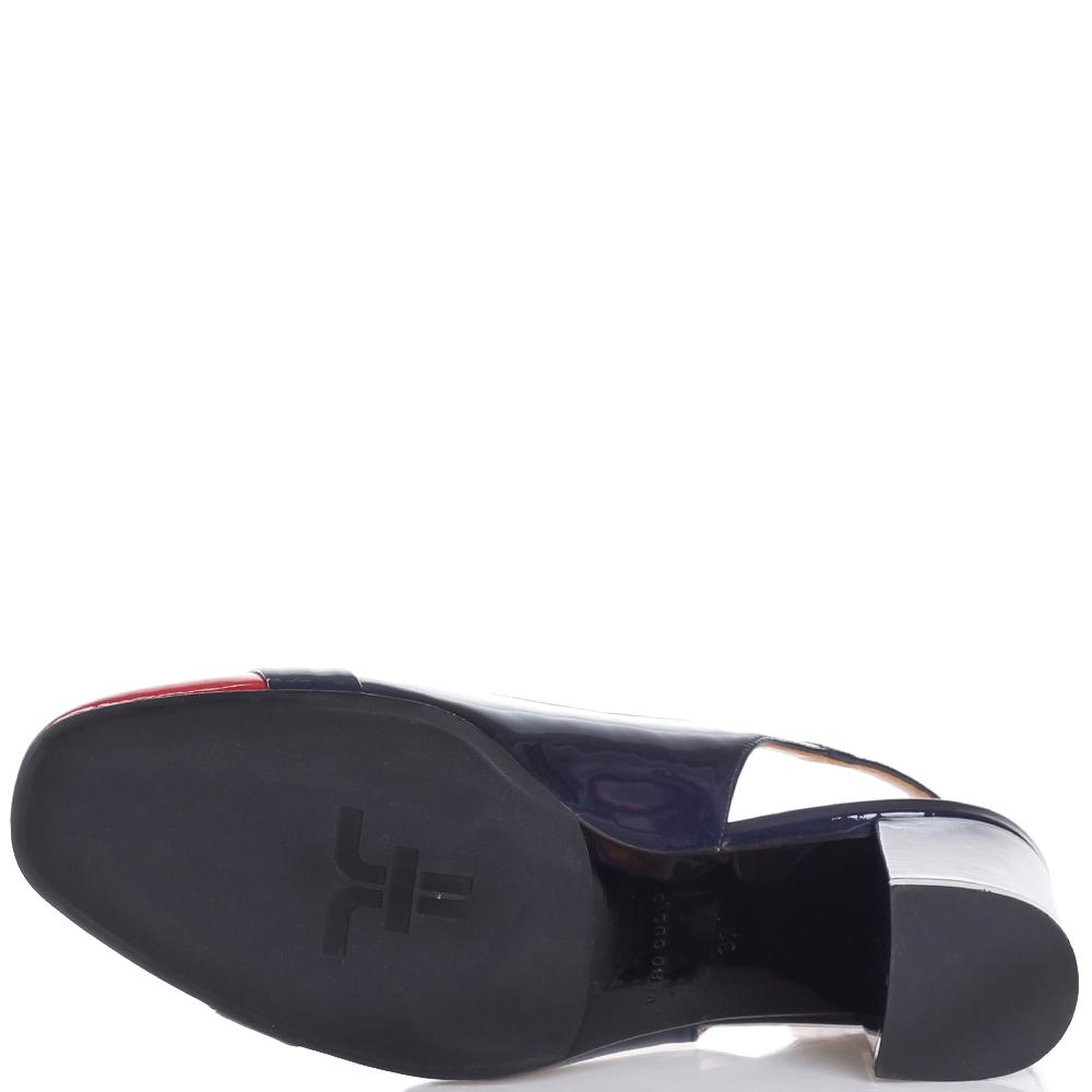 Туфли-слингбеки Giovanni Fabiani на устойчивом каблуке
