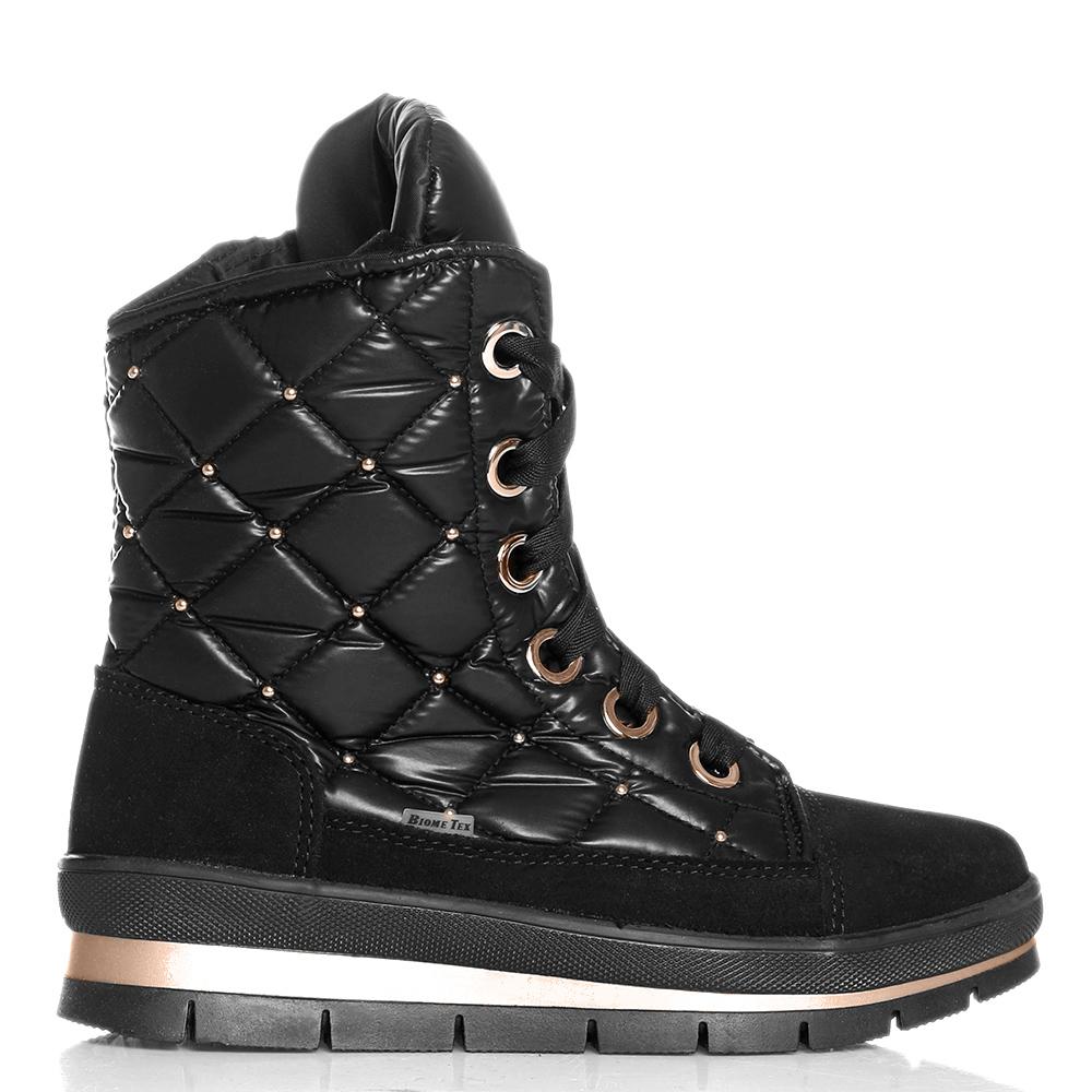 Стеганые ботинки Jog Dog с золотистыми бусинами