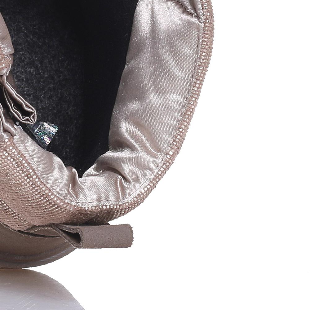 Золотистые ботинки Jog Dog из нубука и дакрона