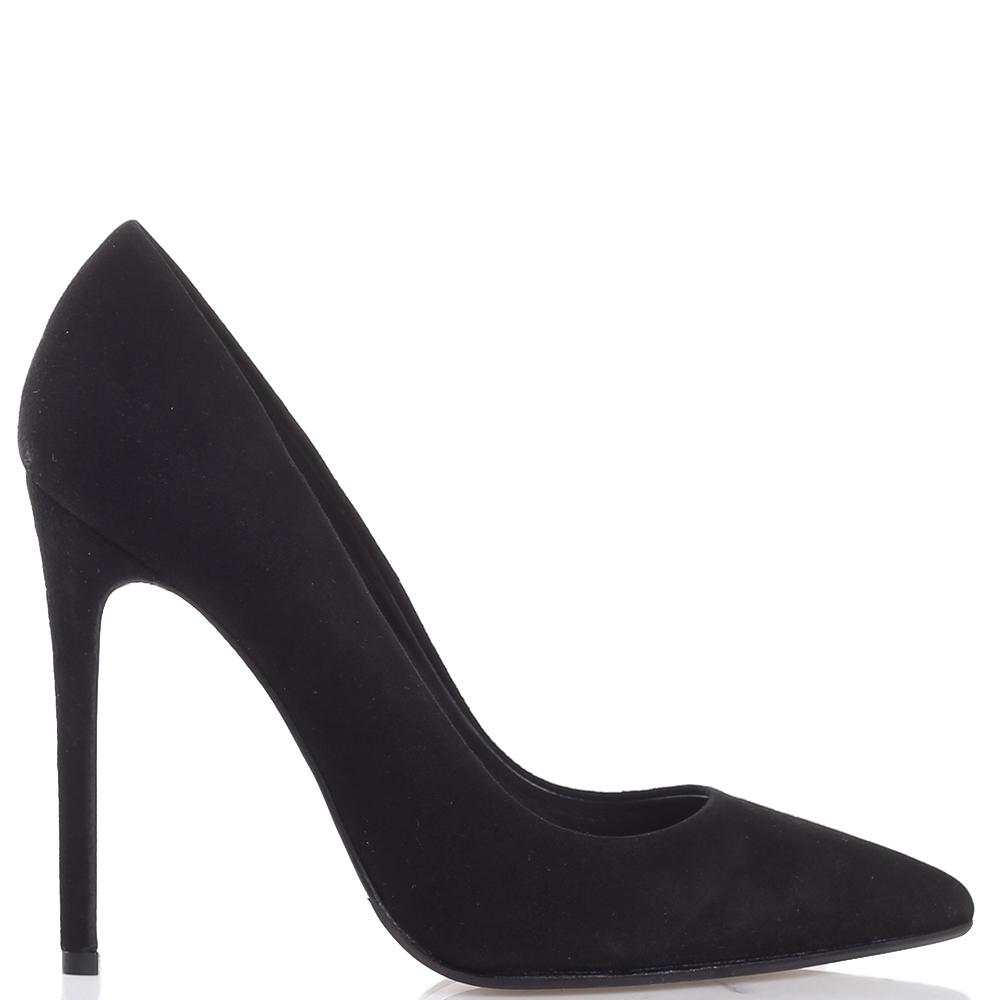 Туфли-лодочки Chantal из замши черного цвета