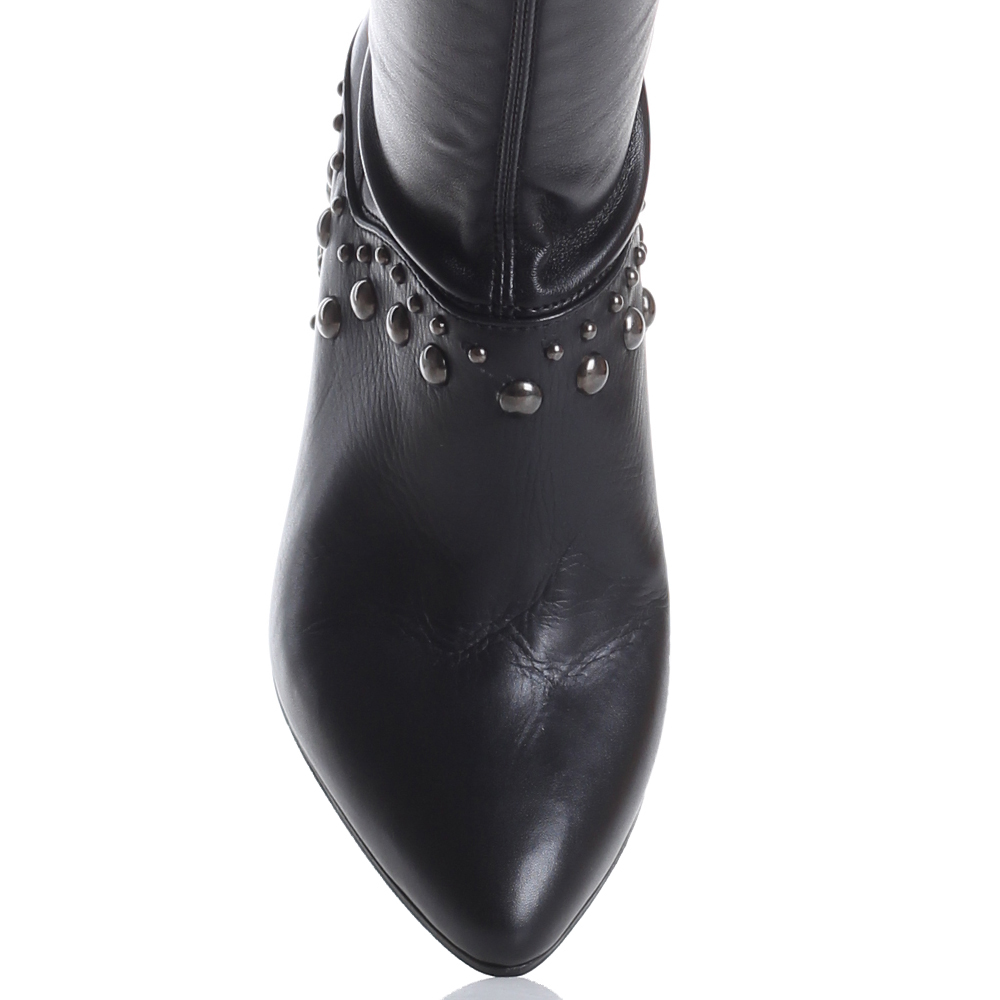 Черные ботфорты Fru.It Now с острым носком