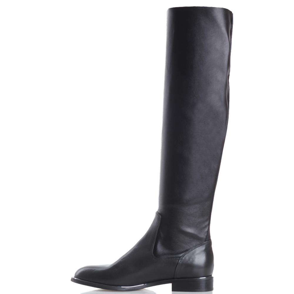 Сапоги Fru.It Now черного цвета на низком каблуке