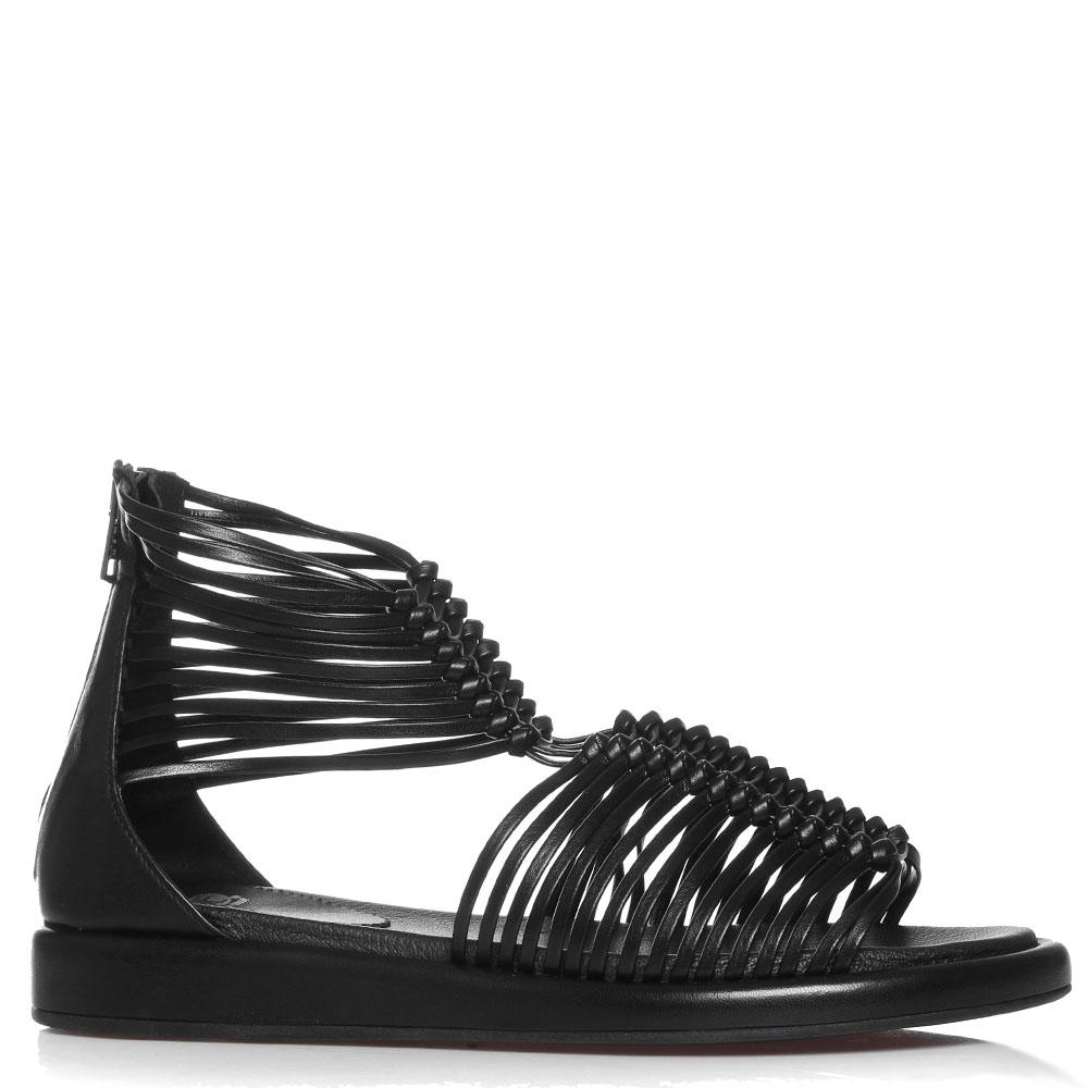 Черные сандалии Fru.It на молнии
