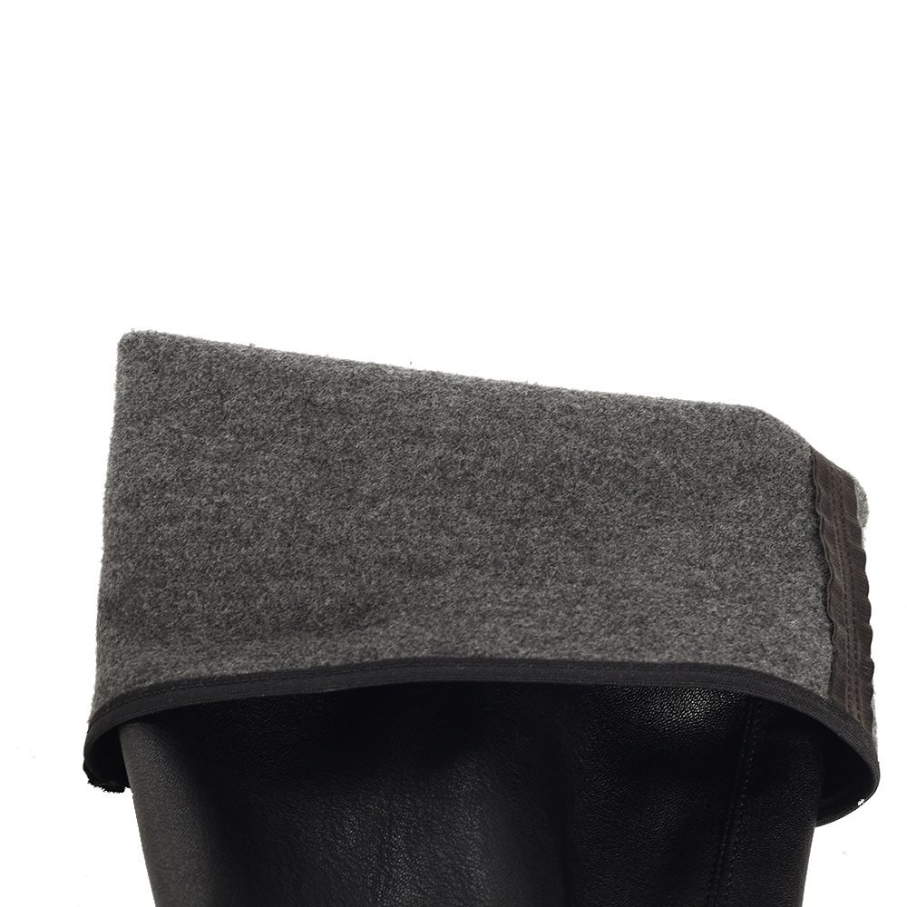 Ботфорты на шнуровке Fru.it из кожи черного цвета