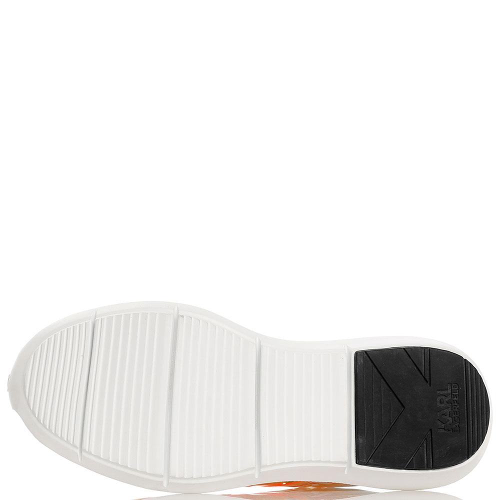 Белые кроссовки Karl Lagerfeld с перфорацией
