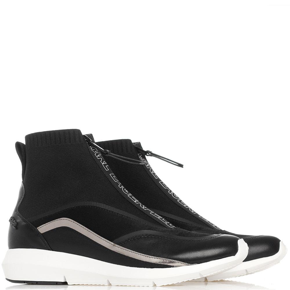 Высокие кроссовки Karl Lagerfeld черного цвета