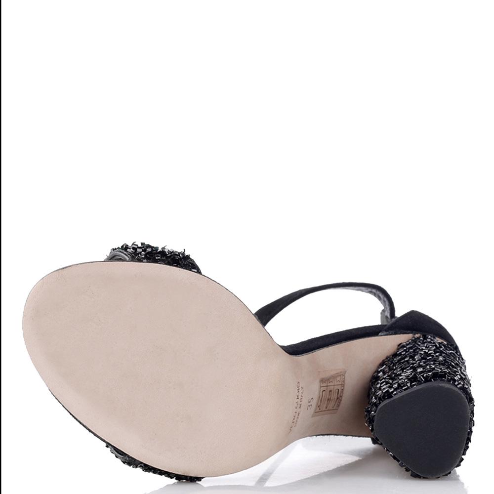Черные босоножки Chantal с декором-стразами