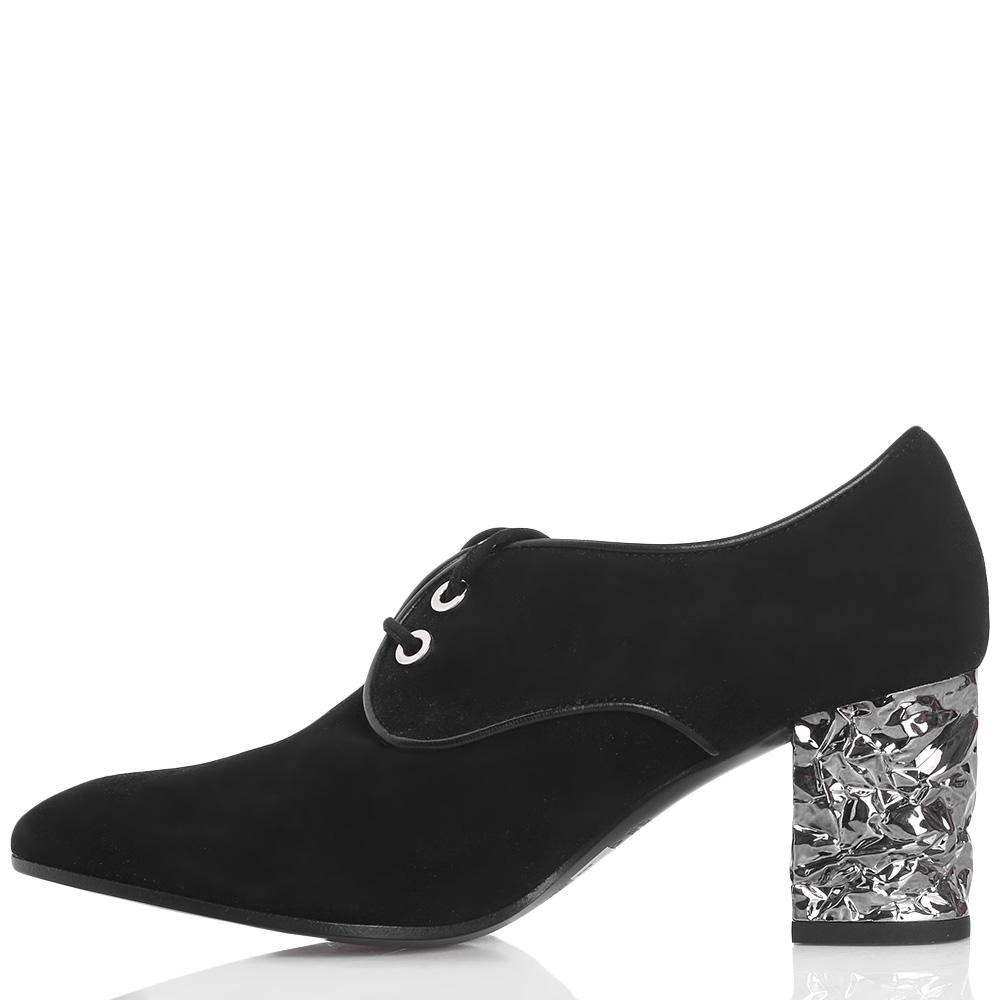 Замшевые туфли Roberto Festa на шнуровке