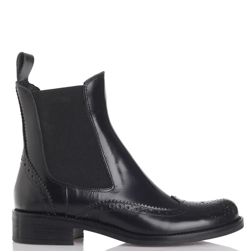 Ботинки Mally из кожи черного цвета