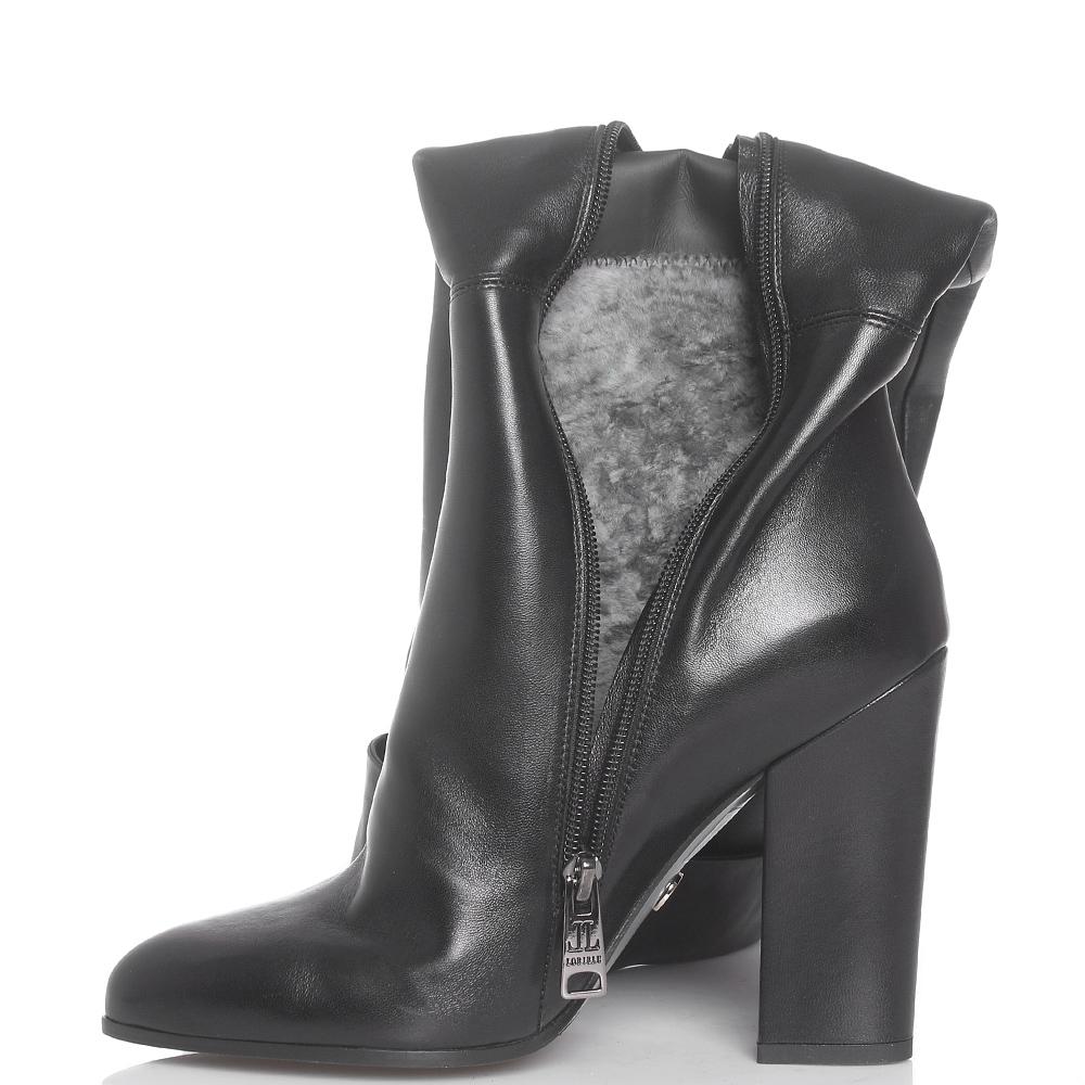 Черные ботфорты Loriblu на устойчивом каблуке