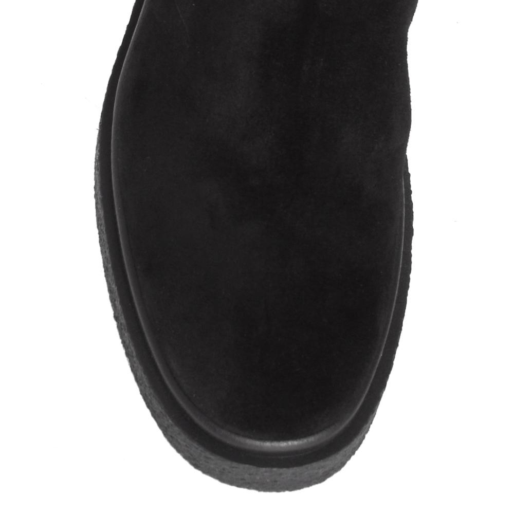 Черные сапоги Jeannot на толстой подошве