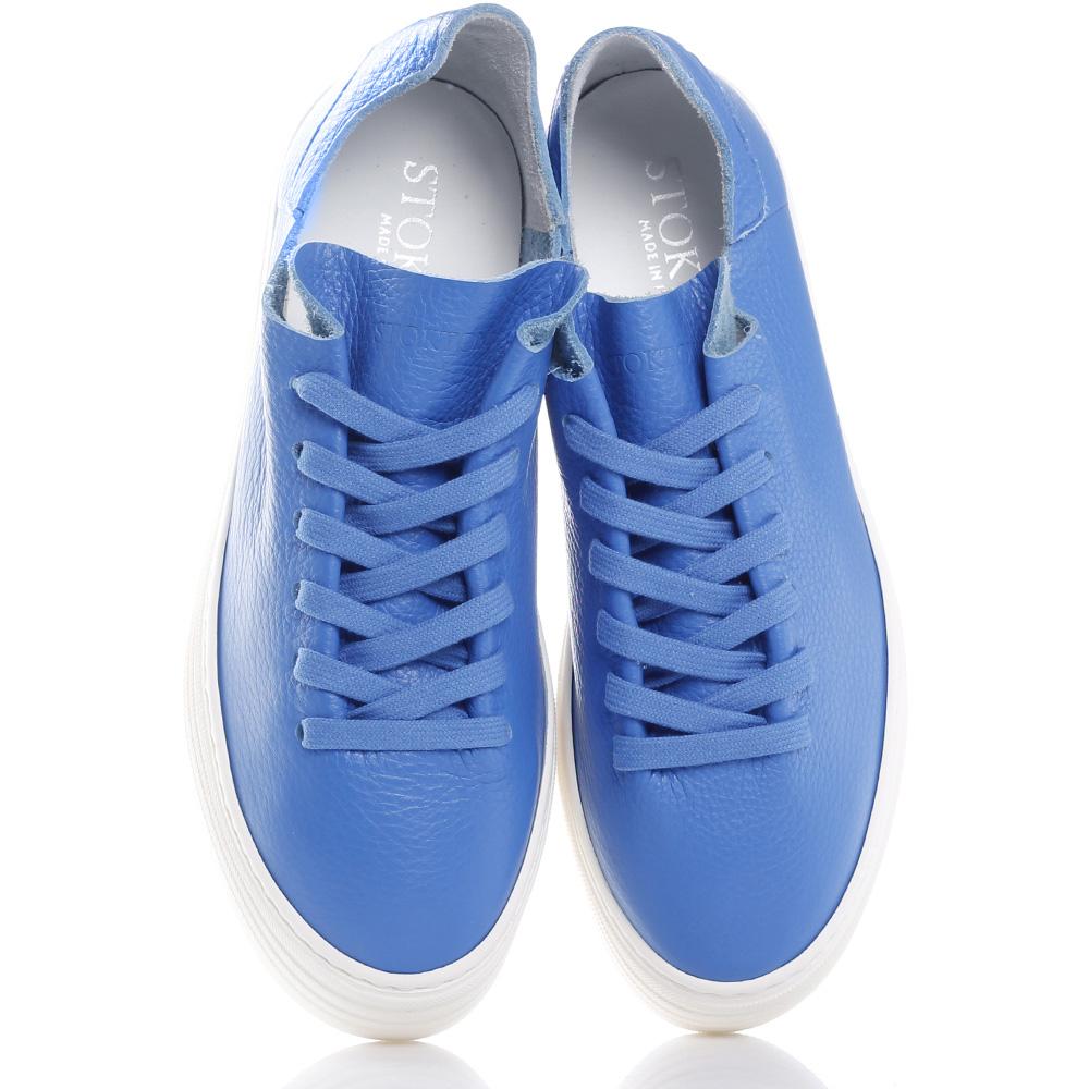 Синие кеды Stokton из мягкой кожи