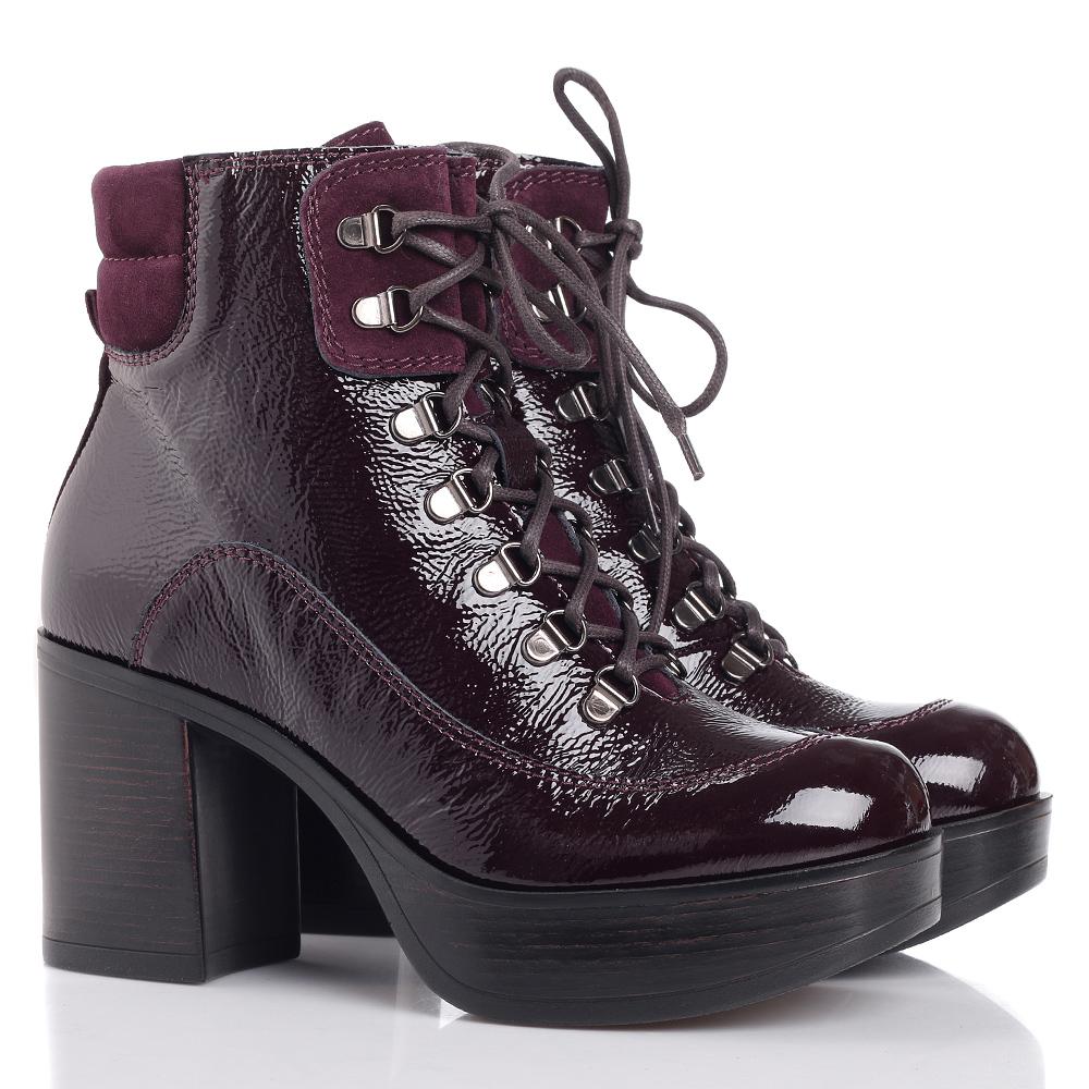 Лаковые ботинки Jeannot бордового цвета
