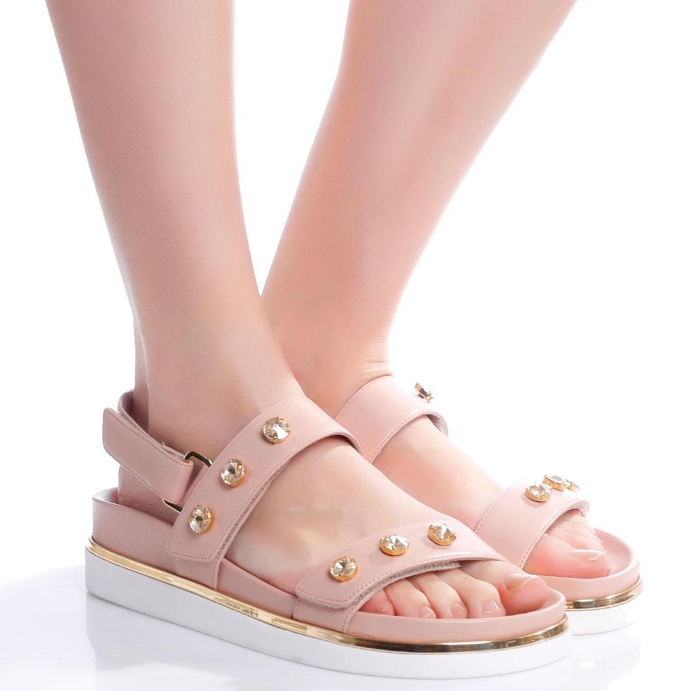 Розовые сандалии Loriblu с крупными камнями