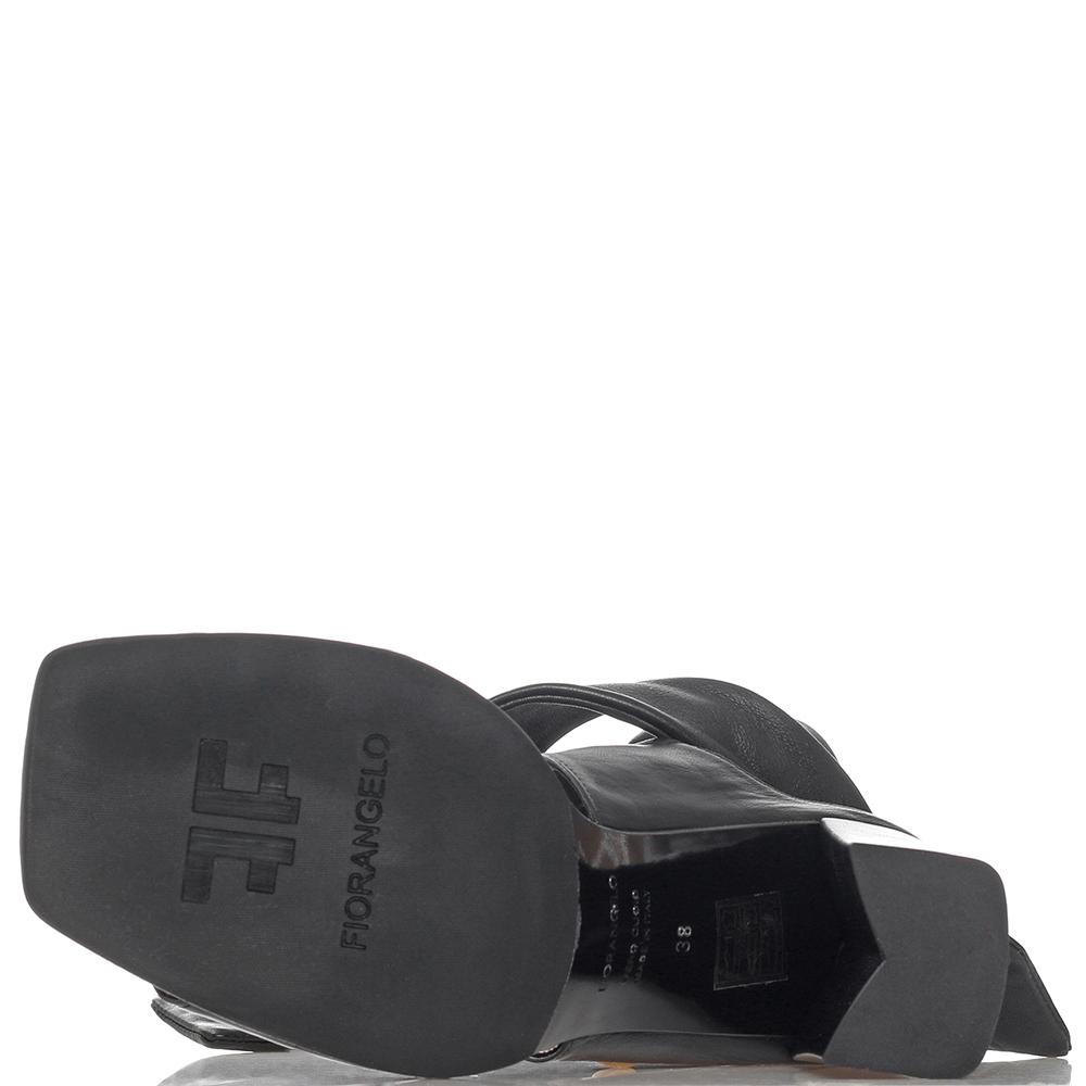 Черные босоножки Fiorangelo на широких завязках
