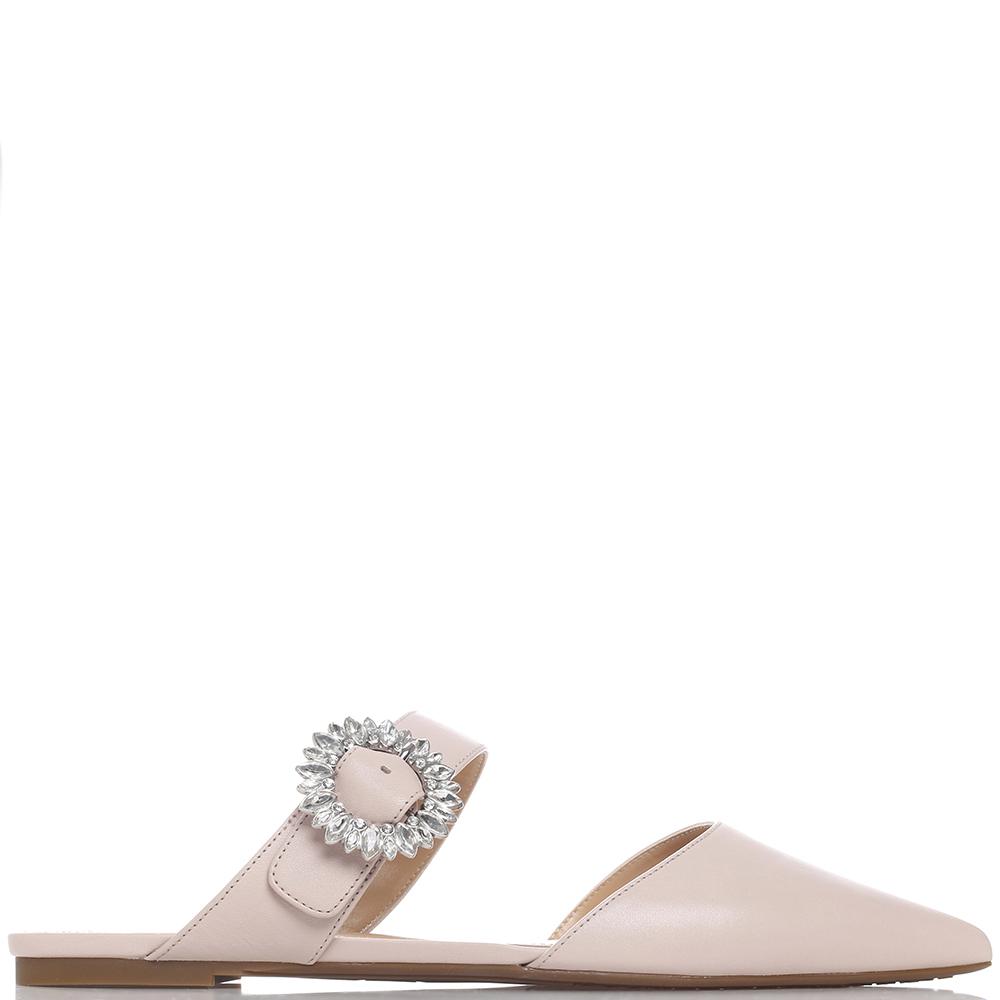 Розовые мюли Michael Kors с острым носком