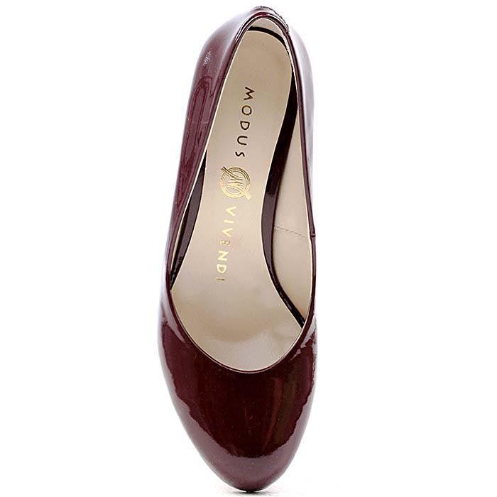 Туфли Modus Vivendi из лаковой кожи темно-бордового цвета