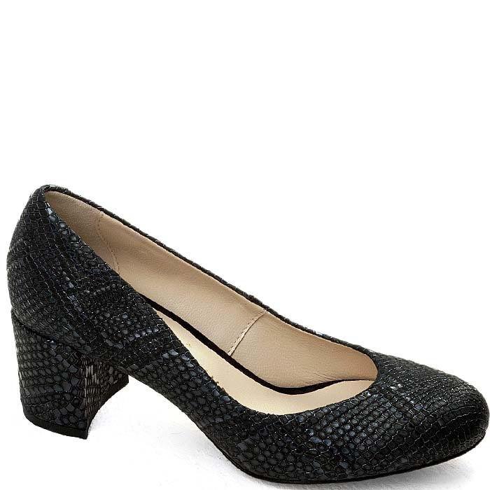 Женские туфли Modus Vivendi черного цвета с имитацией кожи питона