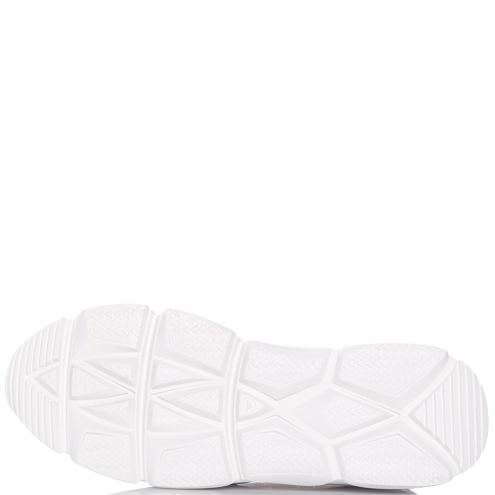 Кроссовки Stokton из кожи и белого гипюра