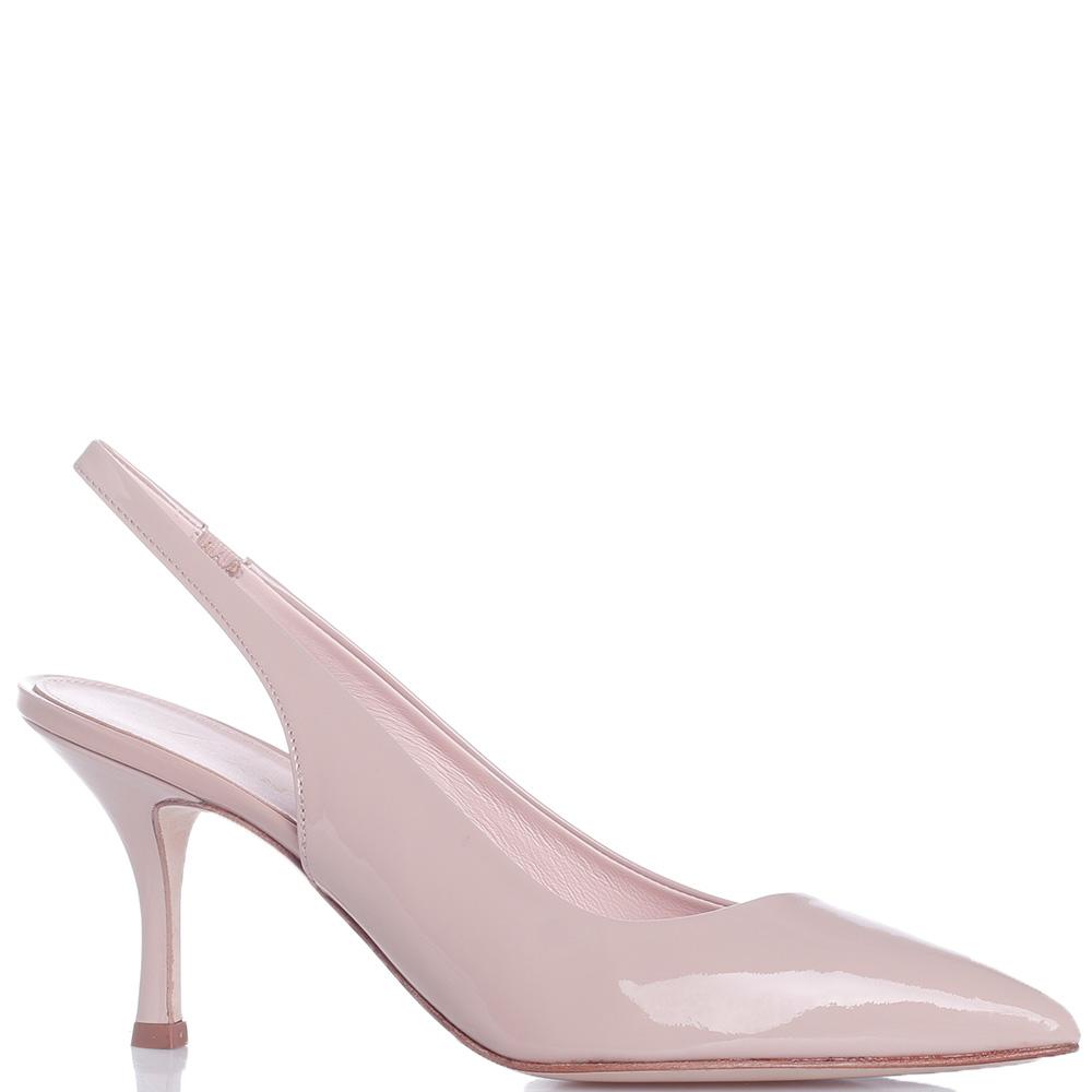 Лаковые туфли-слингбэки Chantal на шпильке