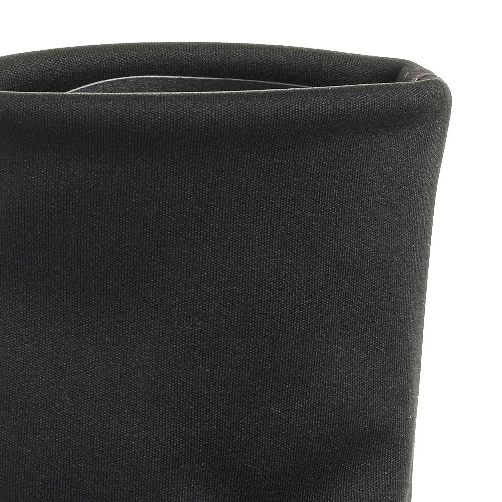 Ботфорты Strategia черного цвета на устойчивом каблуке