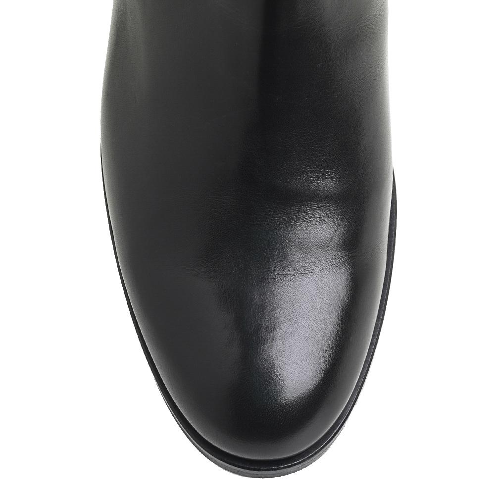Черные сапоги Bervicato с декоративной пряжкой