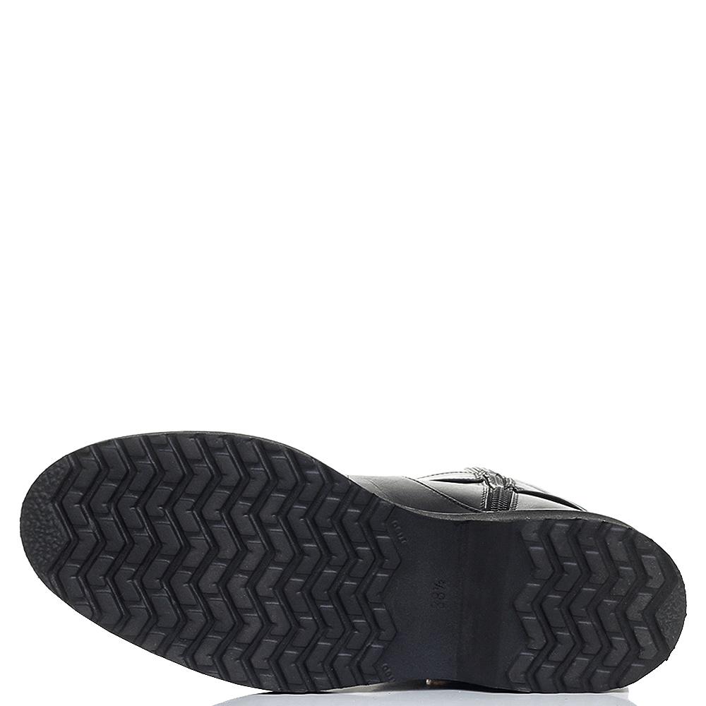 Черные сапоги Bervicato с пряжкой в виде змеи