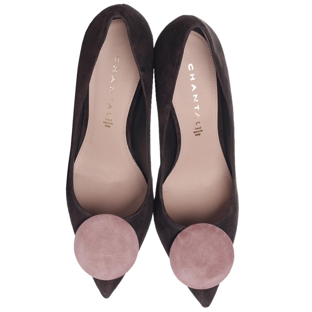 Замшевые туфли Chantal на фиолетовом каблуке
