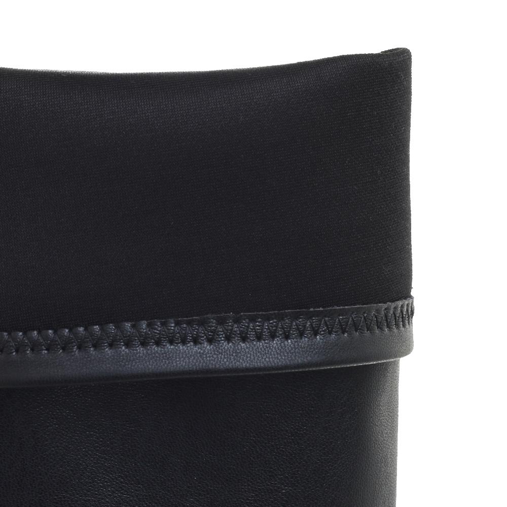 Черные ботфорты Fru.It с декором-ремешками