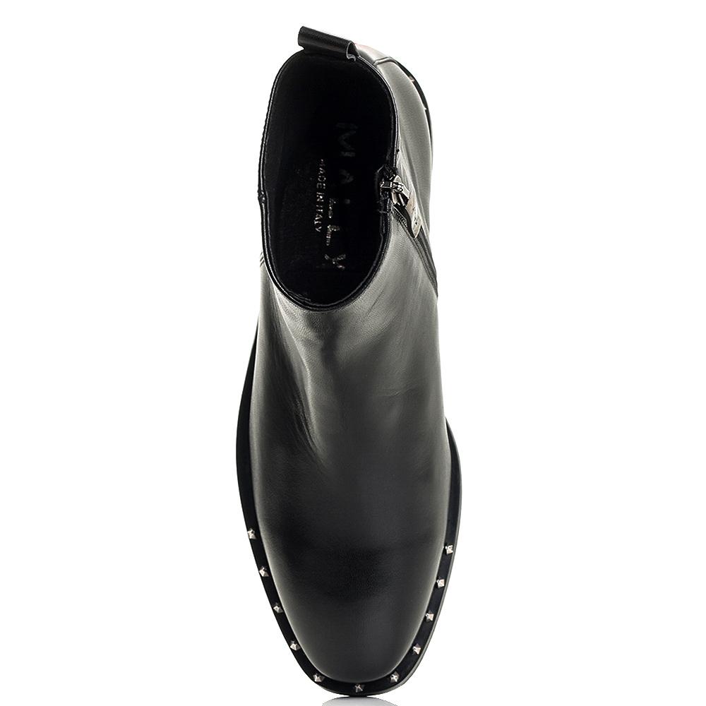 Черные ботинки Mally с декором-шипами