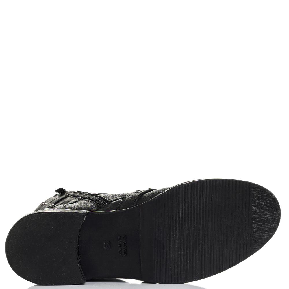 Черные ботинки Mally с декором-заклепками