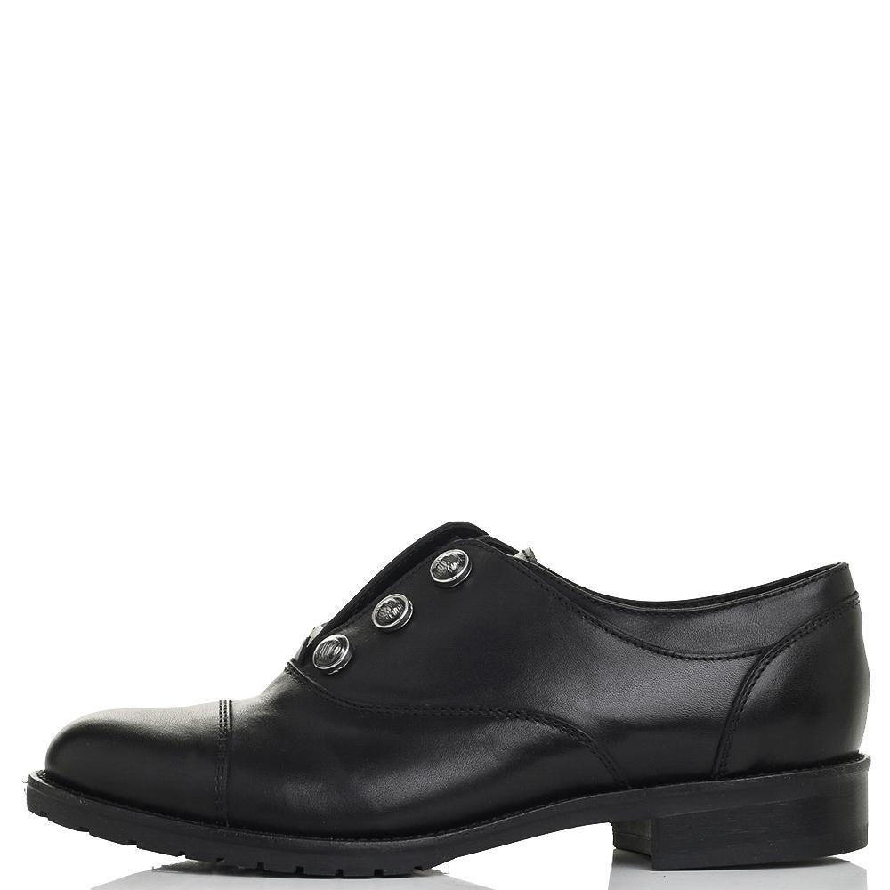 Черные туфли Mally с металлическим декором