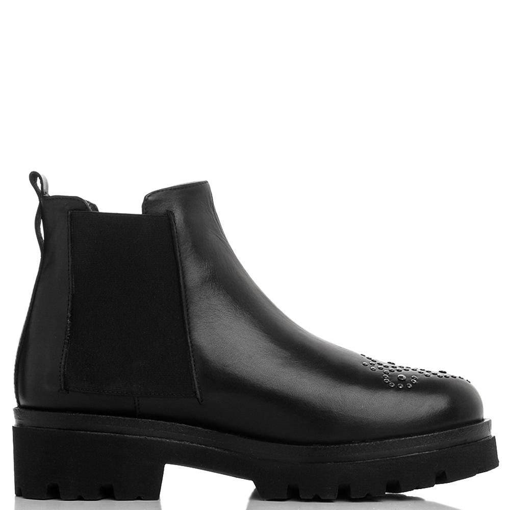 Черные ботинки-челси Mally с узором на носке
