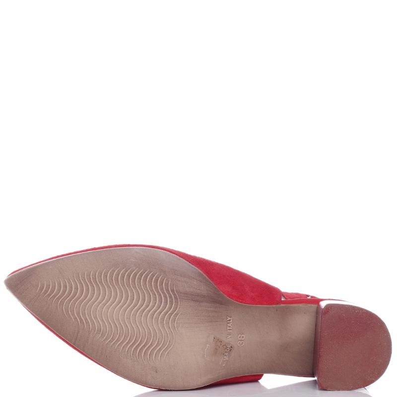 Замшевые туфли Mally с острым носком