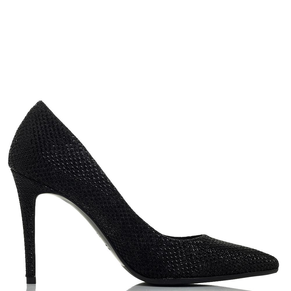 Черные туфли-лодочки Chantal на высоком каблуке