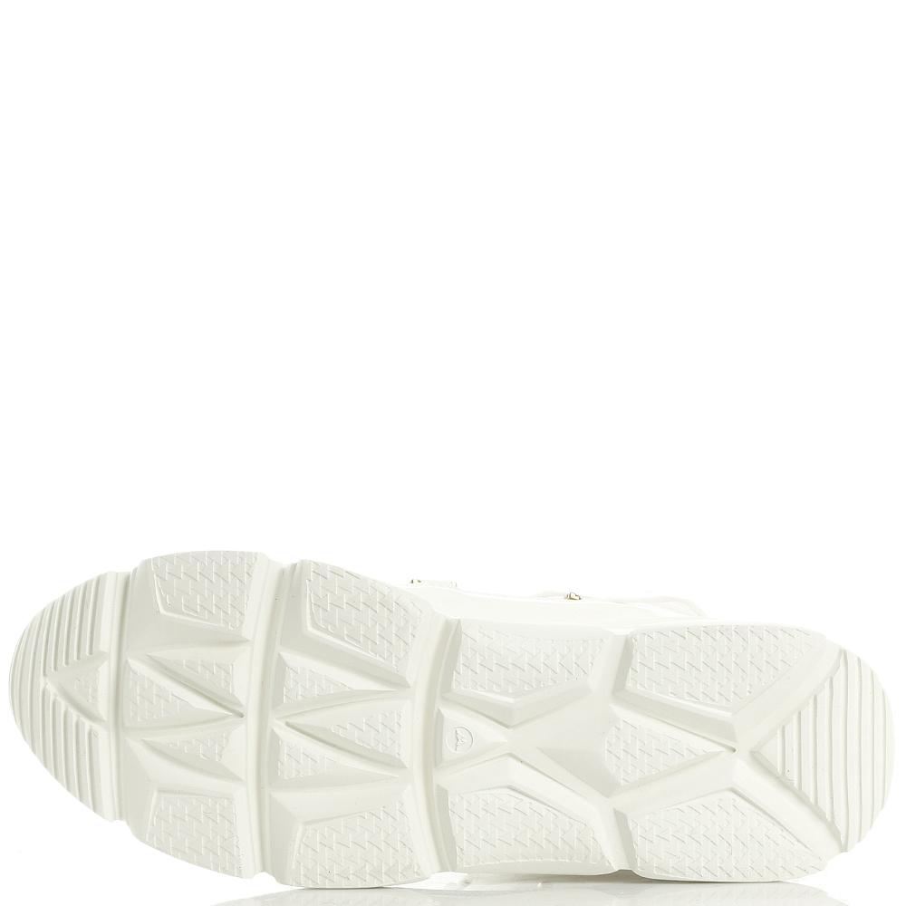 Высокие кроссовки Stokton из лаковой кожи белого цвета