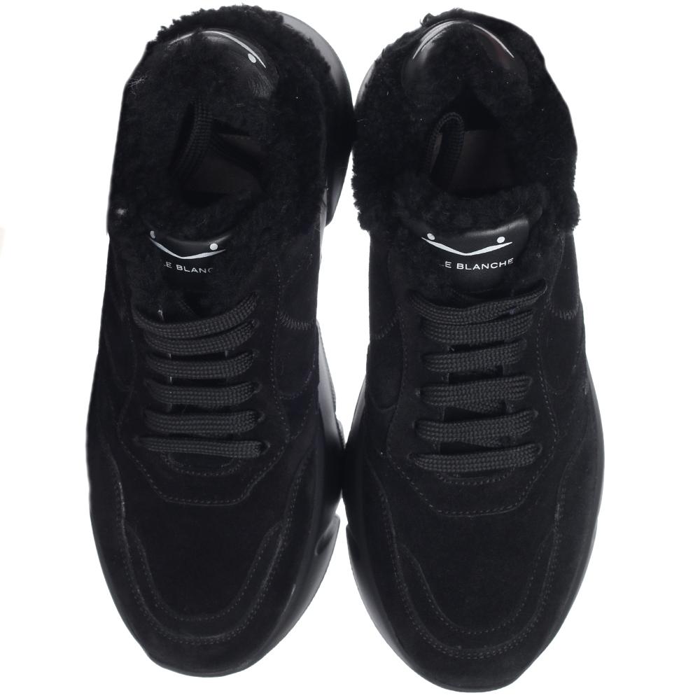 Черные кроссовки Voile Blanche на толстой подошве