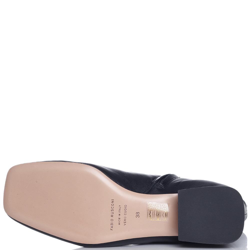 Черные ботинки Fabio Rusconi на низком каблуке