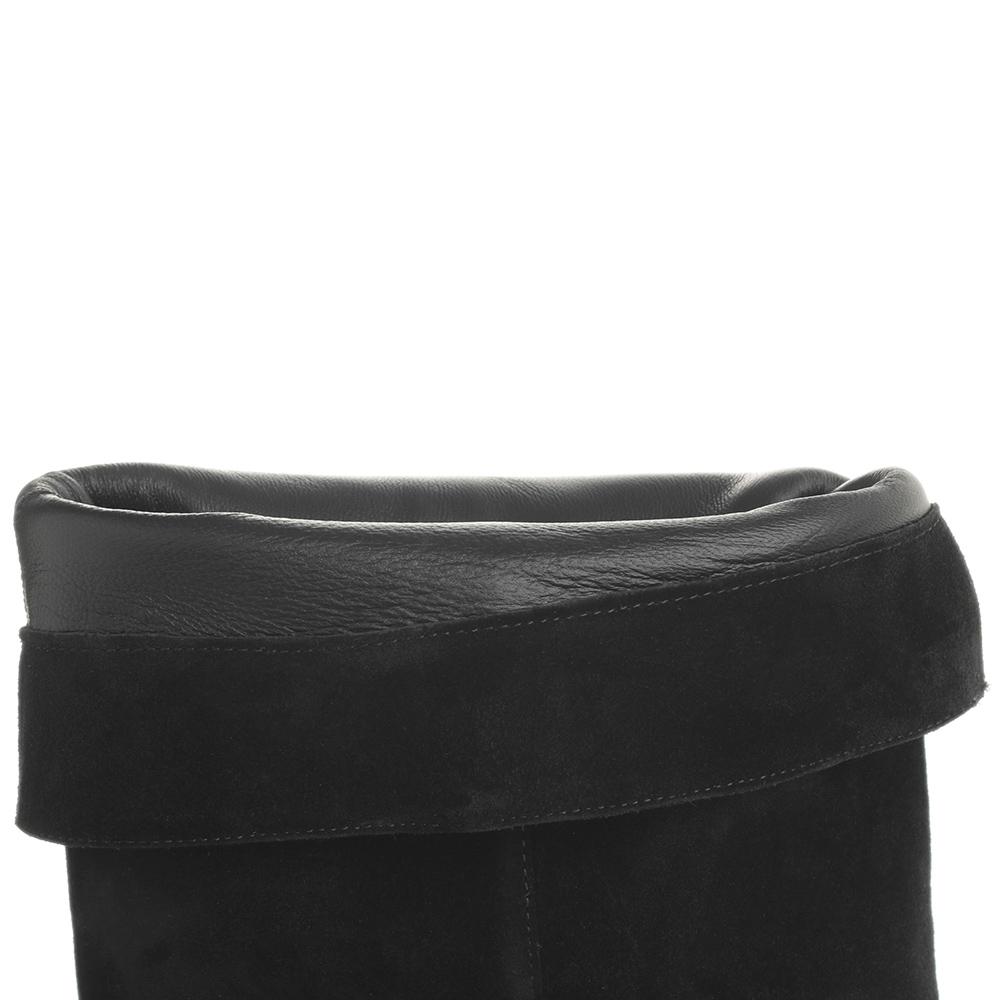 Черные ботфорты Fabio Rusconi на устойчивом каблуке